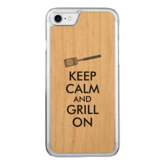 Grilling Keep Calm and Grill On Barbecue Spatula Carved iPhone 7 Case