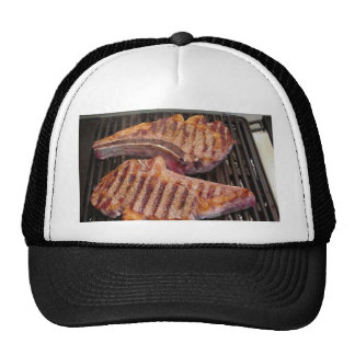 Grilling Steaks Food Dinner Hat
