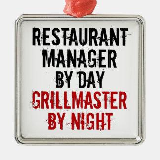 Grillmaster Restaurant Manager Metal Ornament