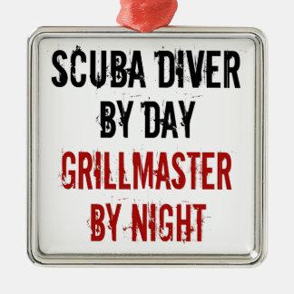 Grillmaster Scuba Diver Metal Ornament