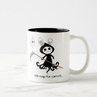 Grim Bunny Two-Tone Coffee Mug