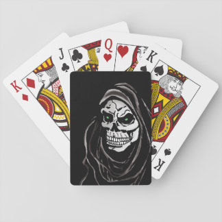 Grim Death reaper Halloween skull design Playing Cards
