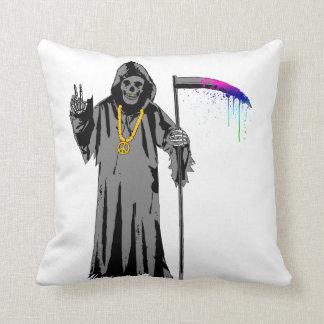 Grim Hippie Throw Cushion