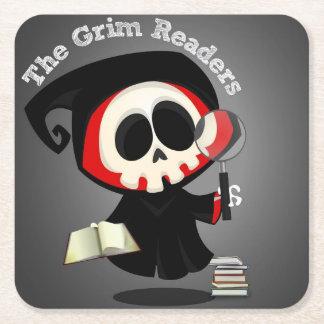 Grim Readers Coasters - Gray