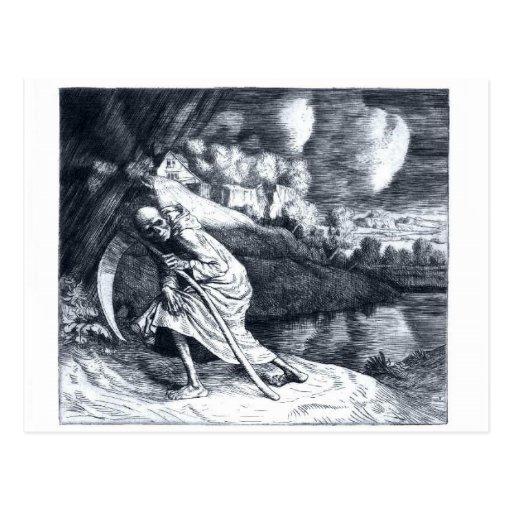 Grim Reaper 1 vintage postcard