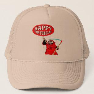 Grim Reaper 21st Birthday Gifts Trucker Hat
