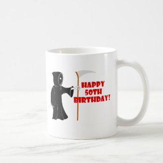 Grim Reaper 50th Birthday Mug