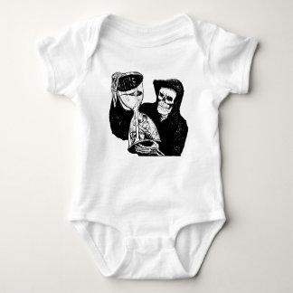 Grim Reaper and Man Baby Bodysuit