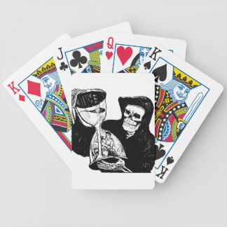 Grim Reaper and Man Bicycle Playing Cards