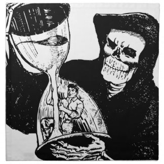 Grim Reaper and Man Napkin