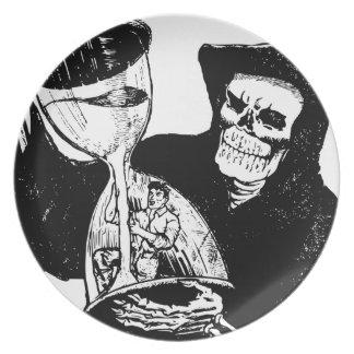 Grim Reaper and Man Plate