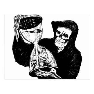 Grim Reaper and Man Postcard