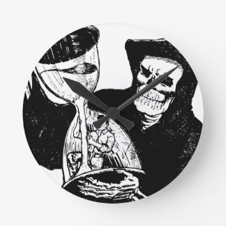 Grim Reaper and Man Round Clock