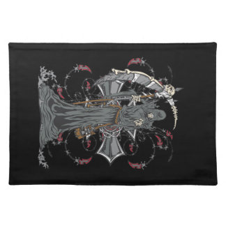 Grim Reaper Awaits Placemat Cloth Placemat