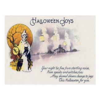 Grim Reaper Black Cat Lantern Full Moon Postcard