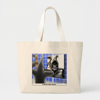 Grim Reaper Brush W/Death Funny Tees Mugs & Gifts Canvas Bags