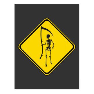 Grim Reaper Crossing! Postcard