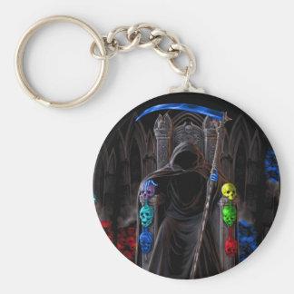 Grim Reaper dark ghost keychain