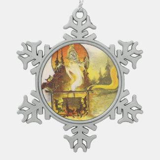 Grim Reaper Full Moon Owl Witch Cauldron Ornaments