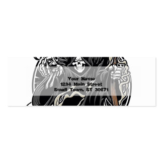 grim reaper gothic evil for halloween pack of skinny business cards