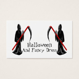 Grim Reaper Halloween Fancy Dress Business Card