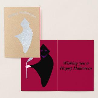 Grim Reaper Halloween Foil Card