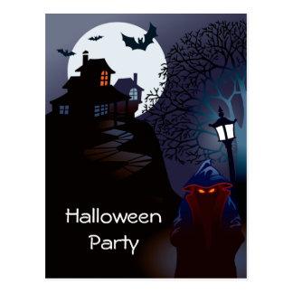 Grim Reaper Haunted Halloween Party Invitation Postcard