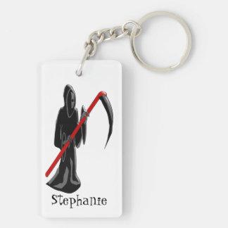 Grim Reaper Just Add Name Key Ring