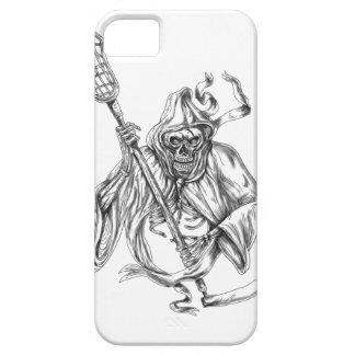Grim Reaper Lacrosse Defense Pole Tattoo Barely There iPhone 5 Case