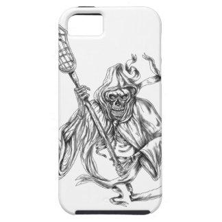 Grim Reaper Lacrosse Defense Pole Tattoo iPhone 5 Cover