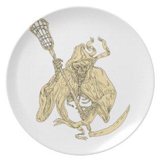 Grim Reaper Lacrosse Stick Drawing Plate
