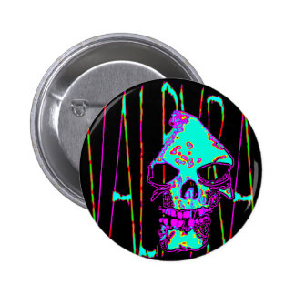 Grim Reaper over VALPYRA Turquoise by Valpyra Pinback Buttons