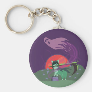Grim Reaper Puppy Key Ring