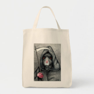 Grim Reaper Rat Halloween tote bag