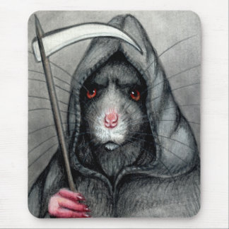 Grim Reaper Rat Mousepad