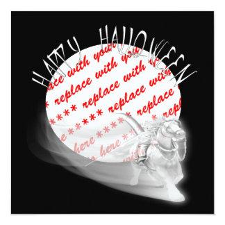 Grim Reaper Rides Again Halloween Photo Frame 13 Cm X 13 Cm Square Invitation Card