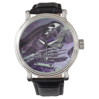 Grim Reaper's Guitar Wrist Watch