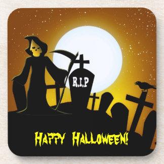 Grim Reaper Scary Halloween Coaster
