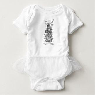 Grim Reaper Scythe Ribbon Tattoo Baby Bodysuit