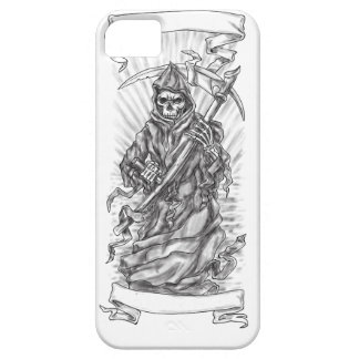 Grim Reaper Scythe Ribbon Tattoo Case For The iPhone 5