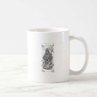 Grim Reaper Scythe Ribbon Tattoo Coffee Mug