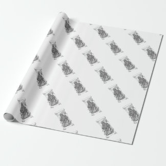 Grim Reaper Scythe Ribbon Tattoo Wrapping Paper