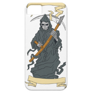 Grim Reaper Scythe Scroll Drawing iPhone 5 Case
