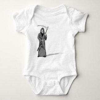 Grim Reaper Vector Sketch Baby Bodysuit