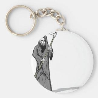 Grim Reaper Vector Sketch Key Ring
