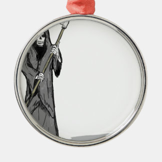 Grim Reaper Vector Sketch Metal Ornament