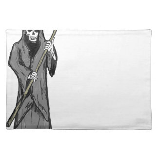 Grim Reaper Vector Sketch Placemat