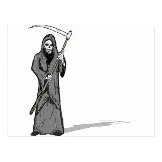 Grim Reaper Vector Sketch Postcard