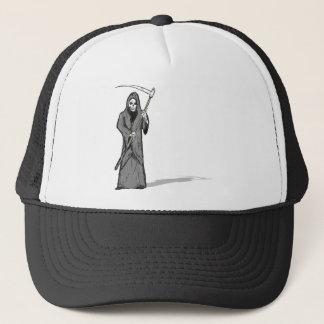Grim Reaper Vector Sketch Trucker Hat