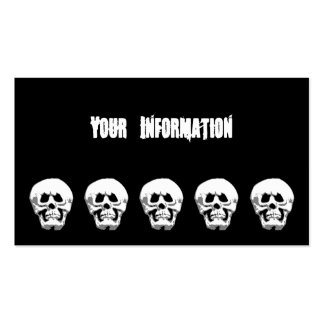 Grimacing Scary Halloween Skull Calling Card Business Cards